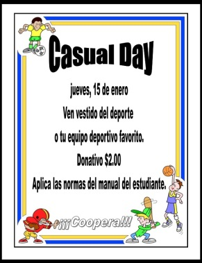Casual Day 15 de enero 2015