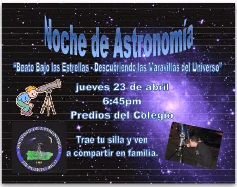 Noche de Astronomia