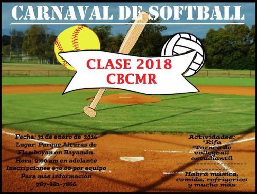 Carnaval Softball Clase 2018