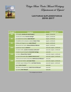 Revised Lectura Suplementarias 2016-2017