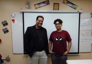 Prof. Rodríguez with Xavier
