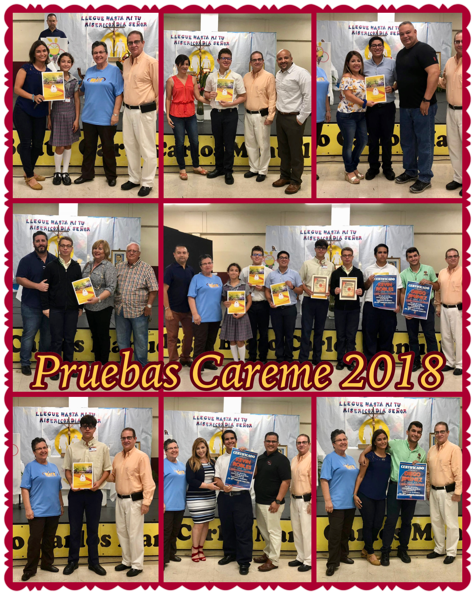 Estudiantes sobresalientes Careme 2018